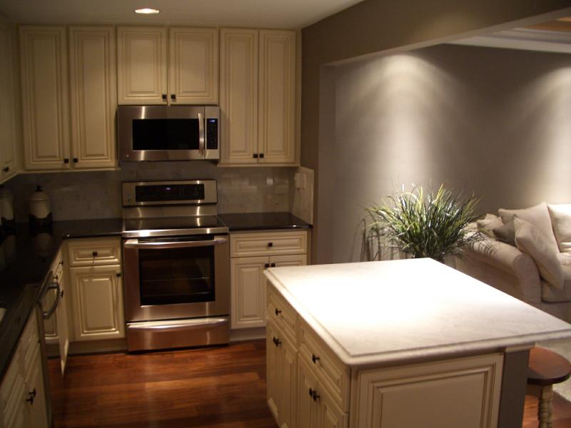 before & after: from tiny to timely, kitchen and living room