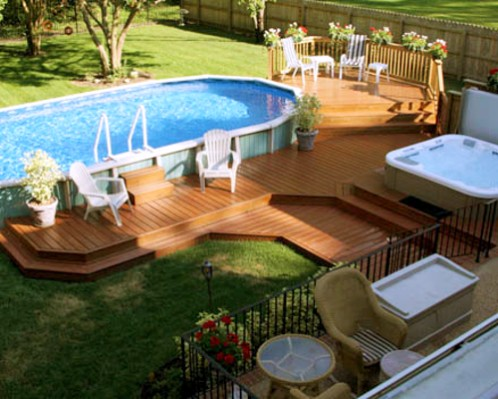 swimming pool deck image Pool Decks For Above Ground Pools